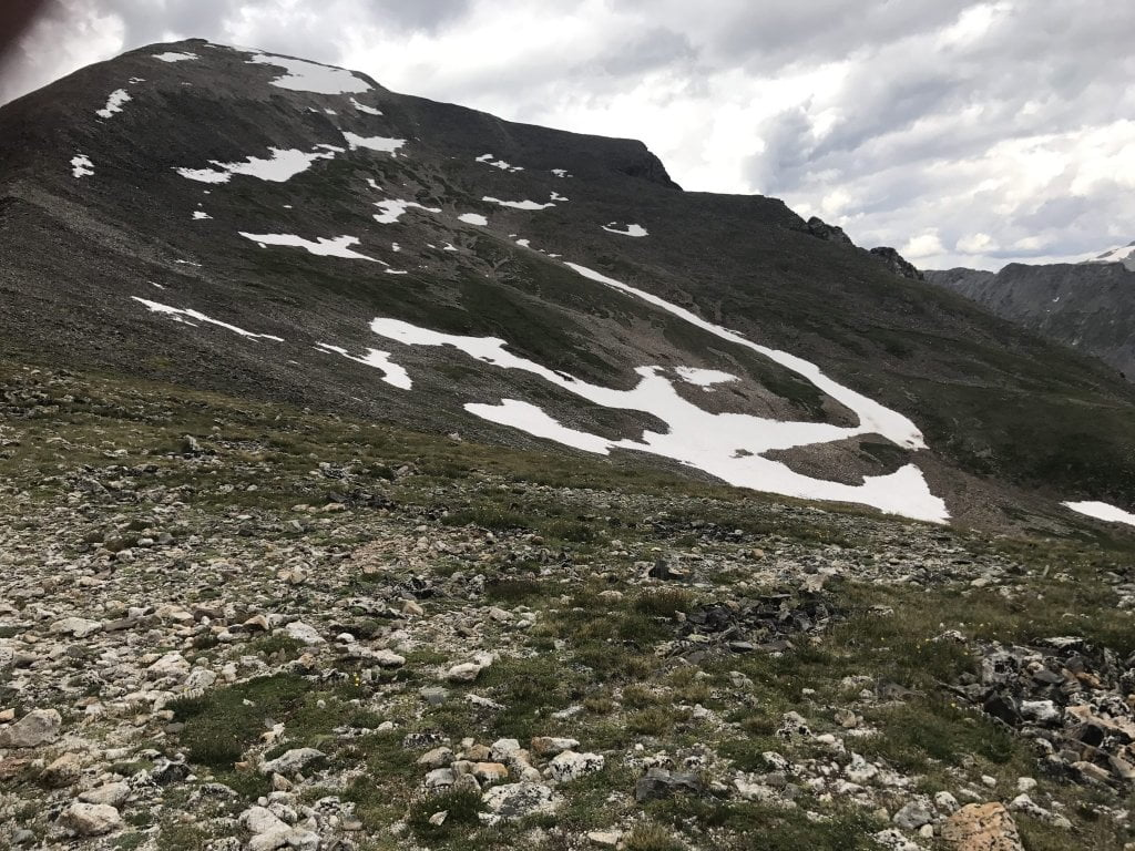 Quandary Peak Trail False Summit Snowfield