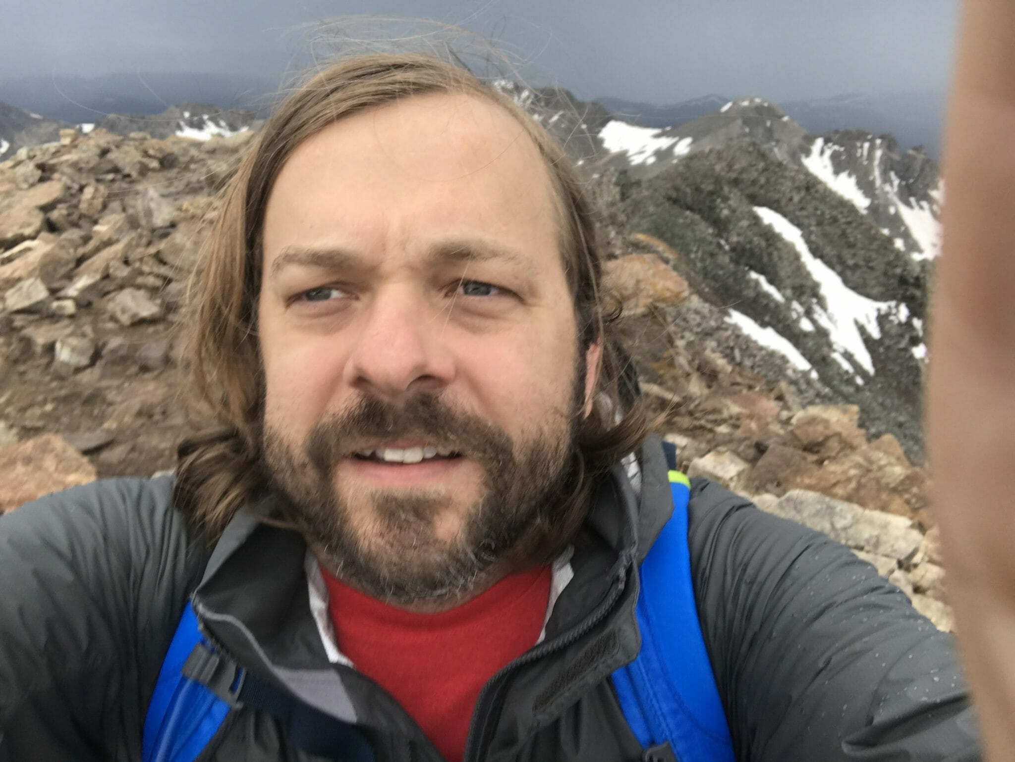Selfie on Summit of Quandary Mountain