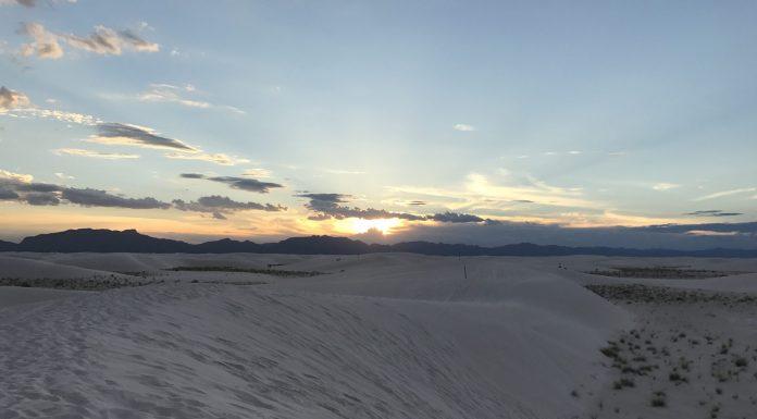 Sunset White Sands National Monument