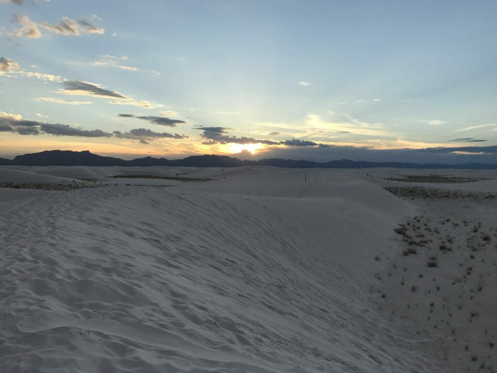 Sunset White Sands National Monument