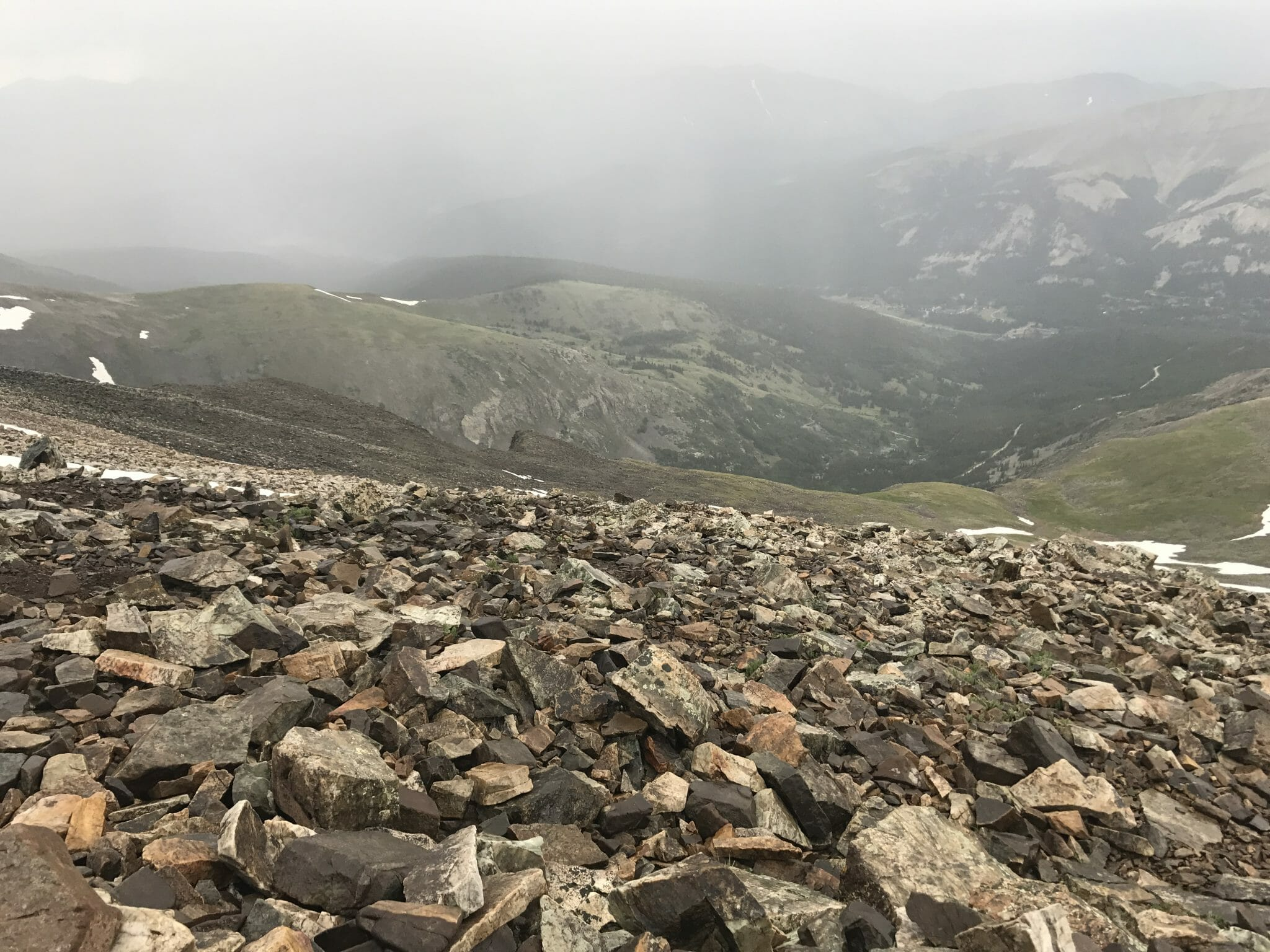 Quandary Peak Rain Storms