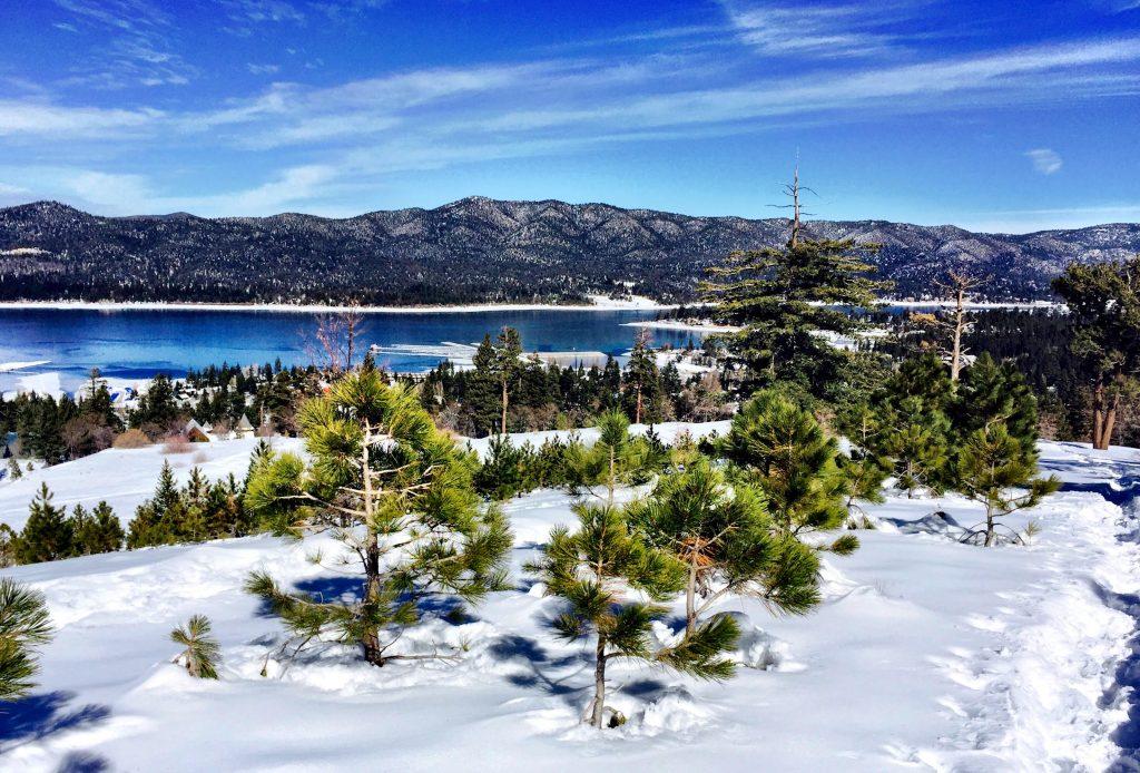 snowshoeing big bear lake