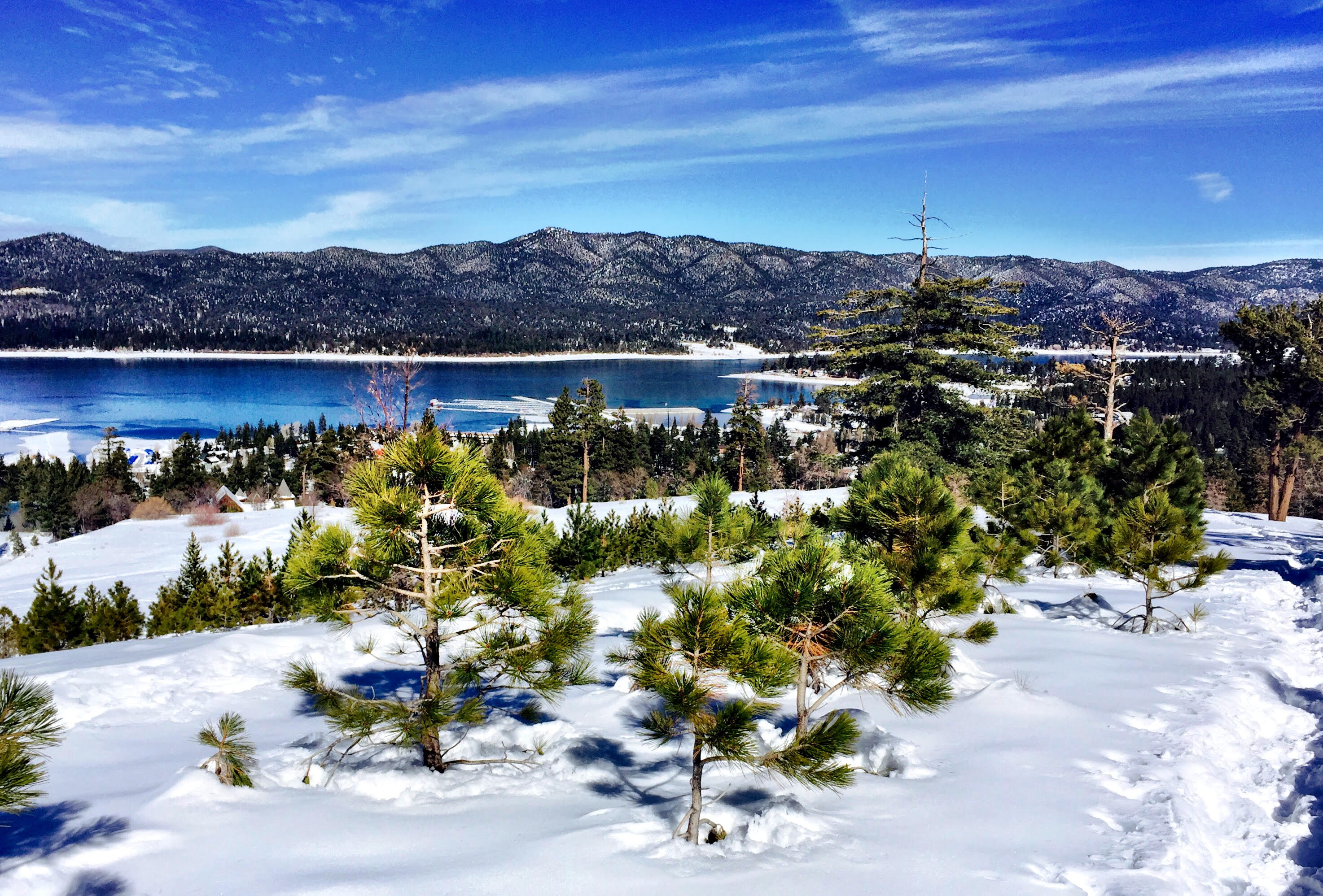 snowshoeing big bear lake