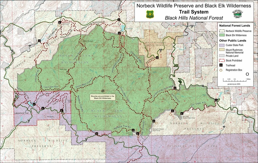 Black Elk Wilderness Trail Map