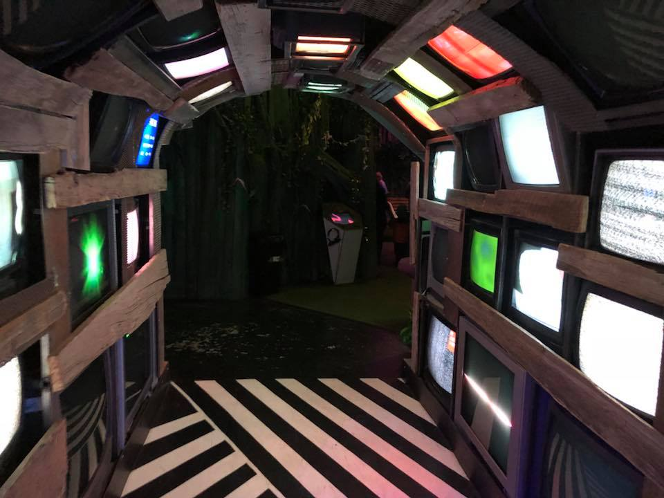 Meow Wolf TV Wall