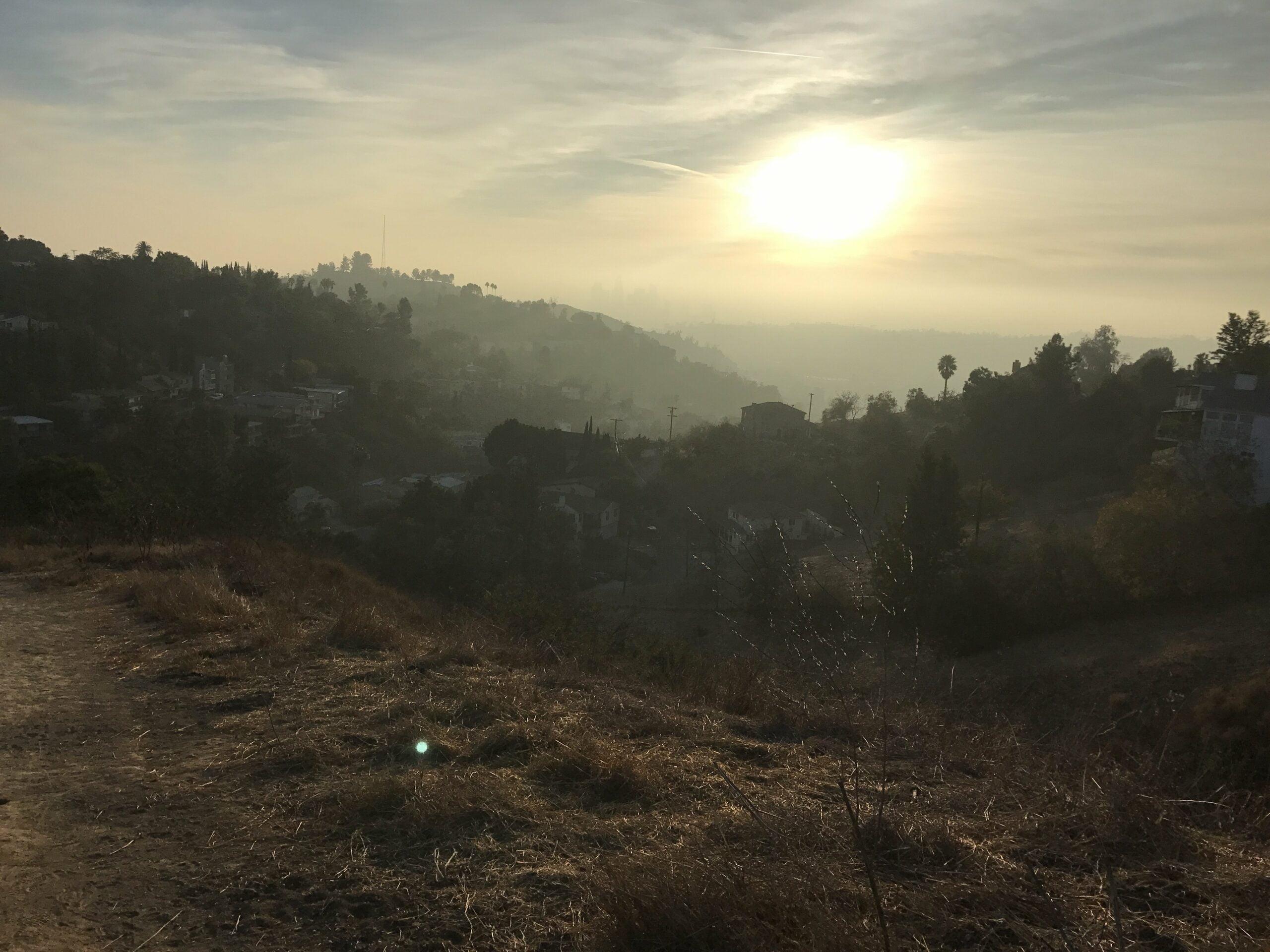ernest e debs regional park sunset view