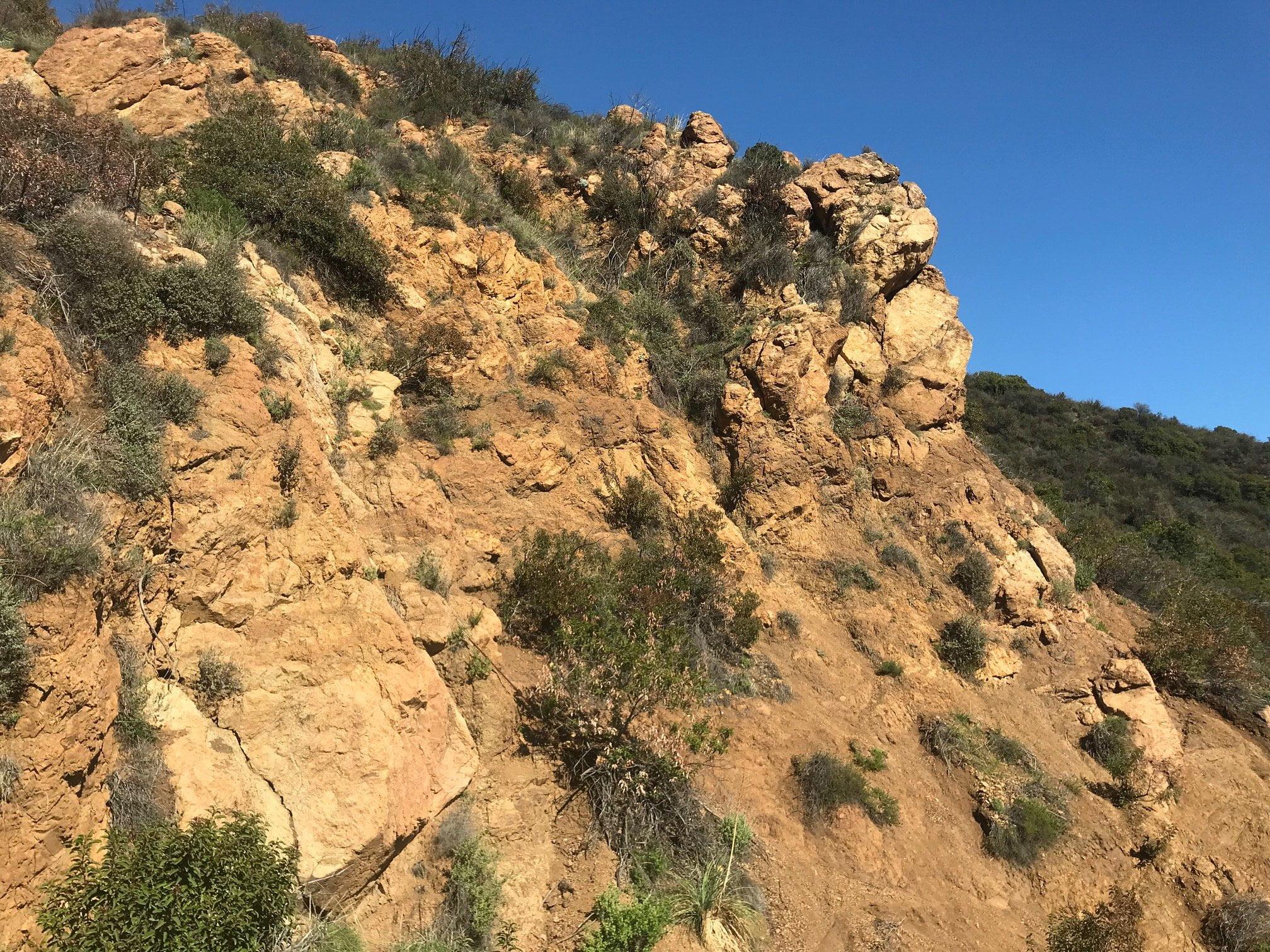Escondido Falls canyon rocks