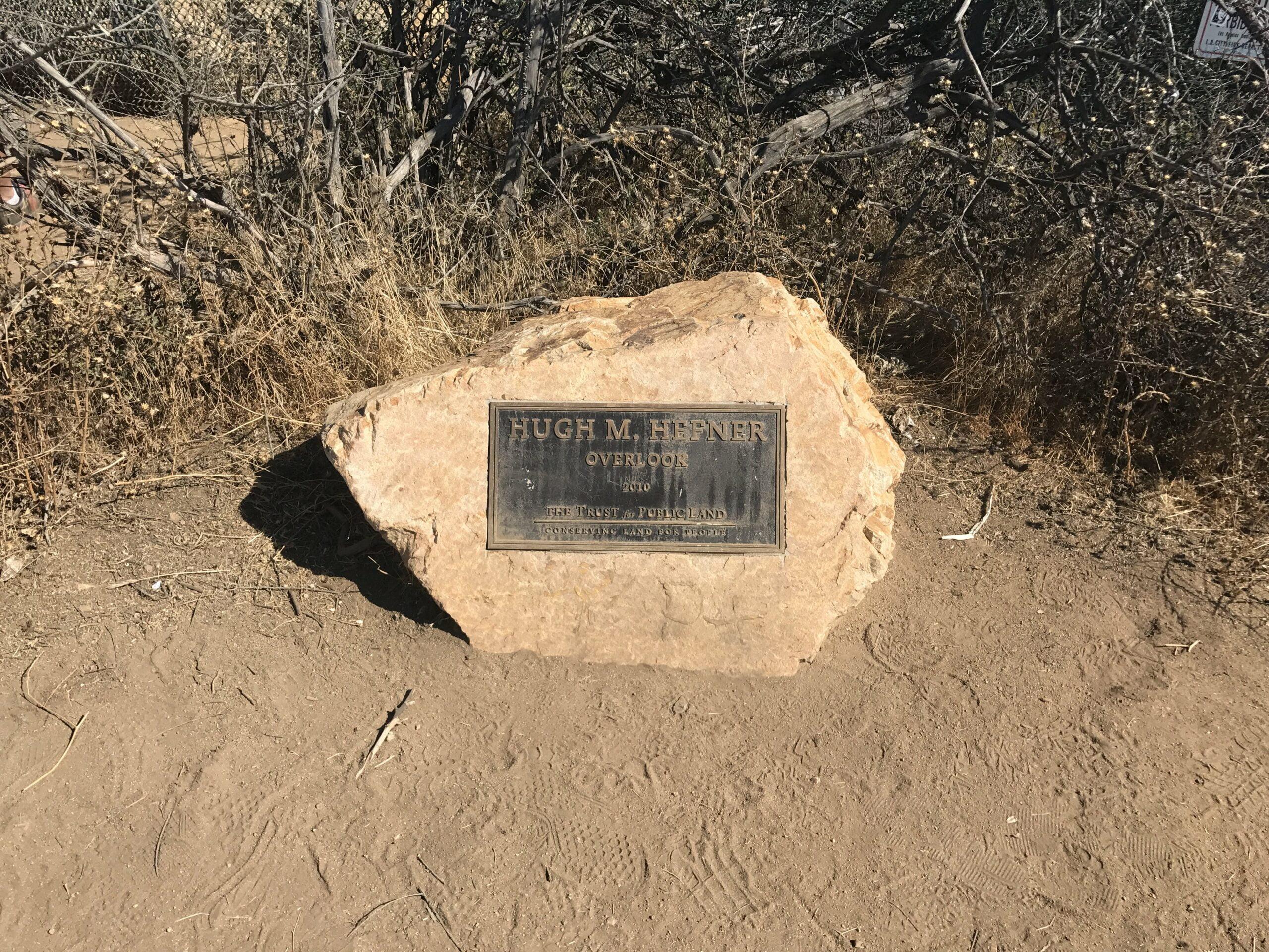 Hugh M. Hefner memorial stone