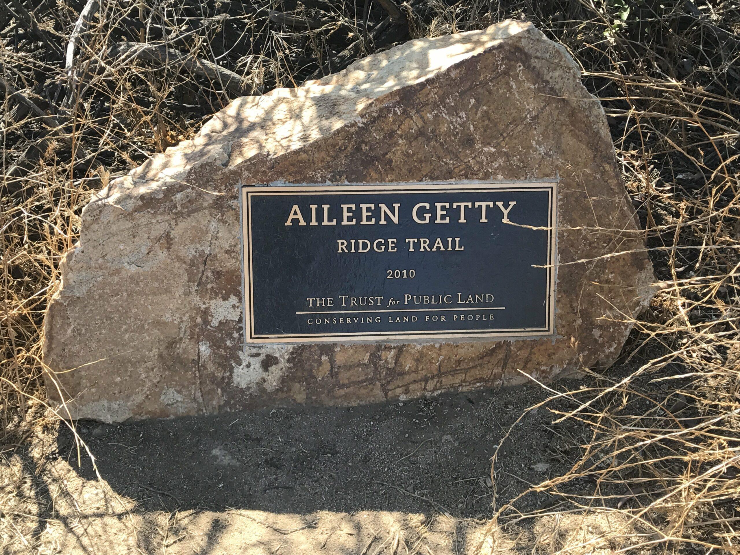 Aileen Getty Commemorative Stone