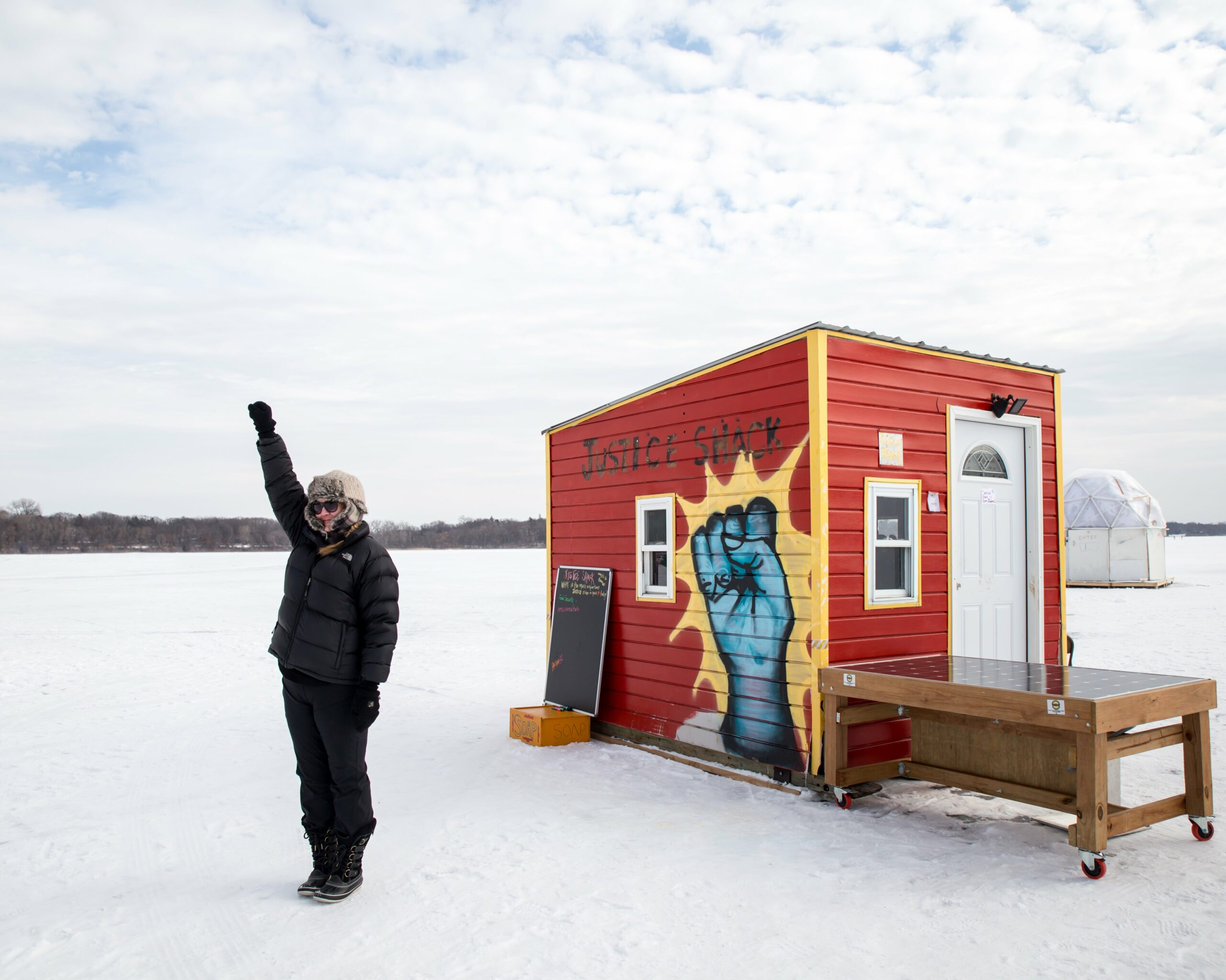 Justice Shack Minnesota Art Shanty Projects