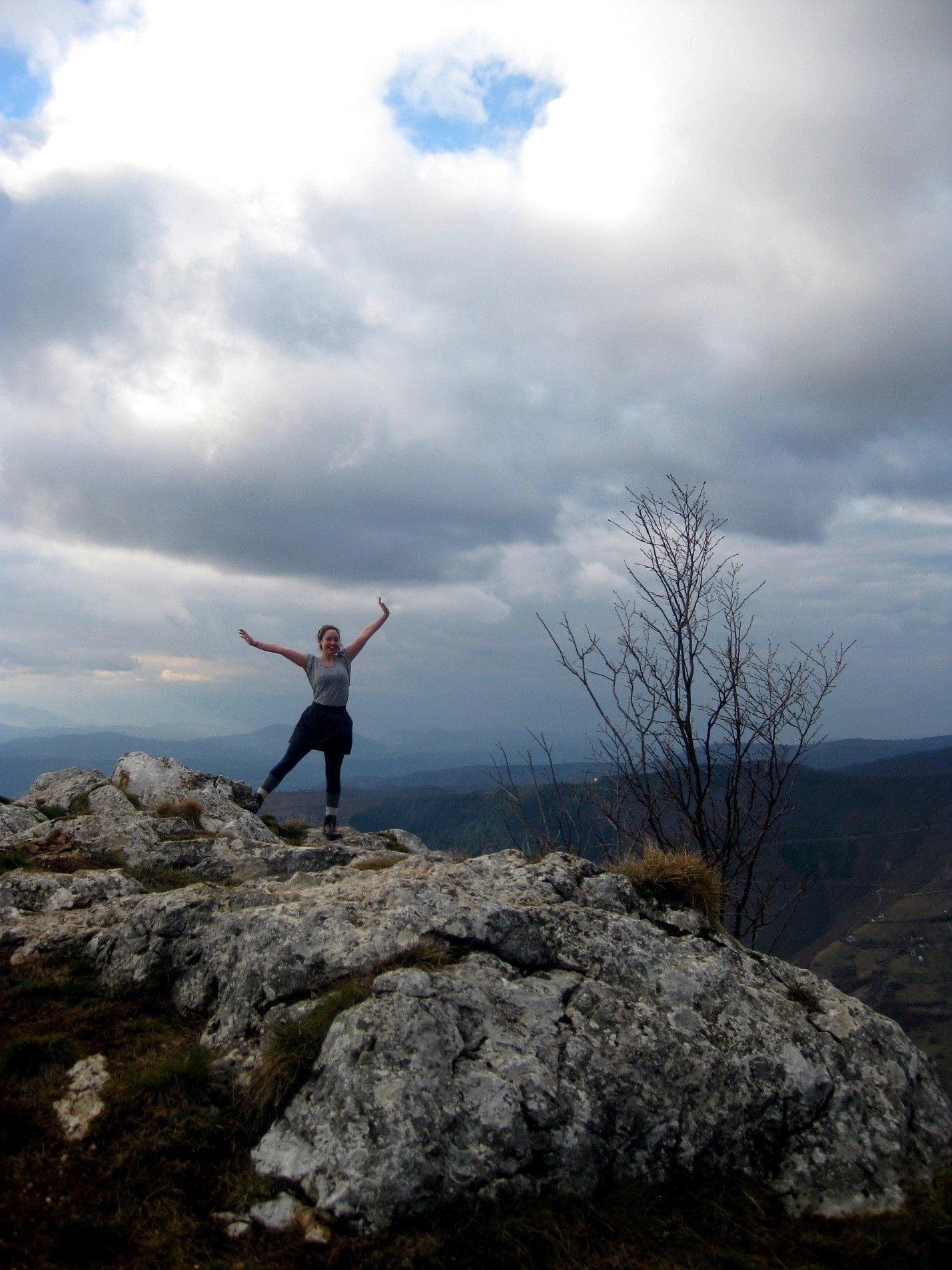 hiking in bosnia - mountain summit