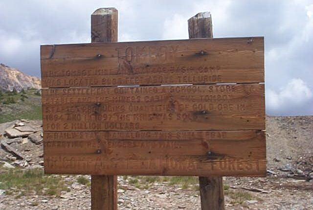 Tomboy Mine Imogene Pass Colorado