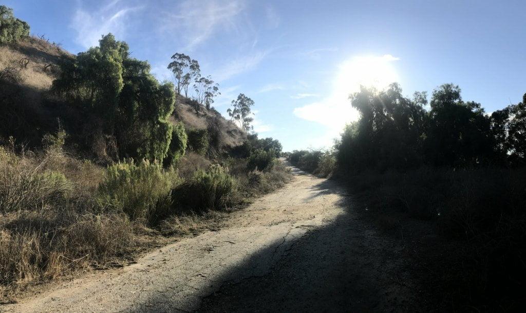 Arroyo Pescadero trail hill climb