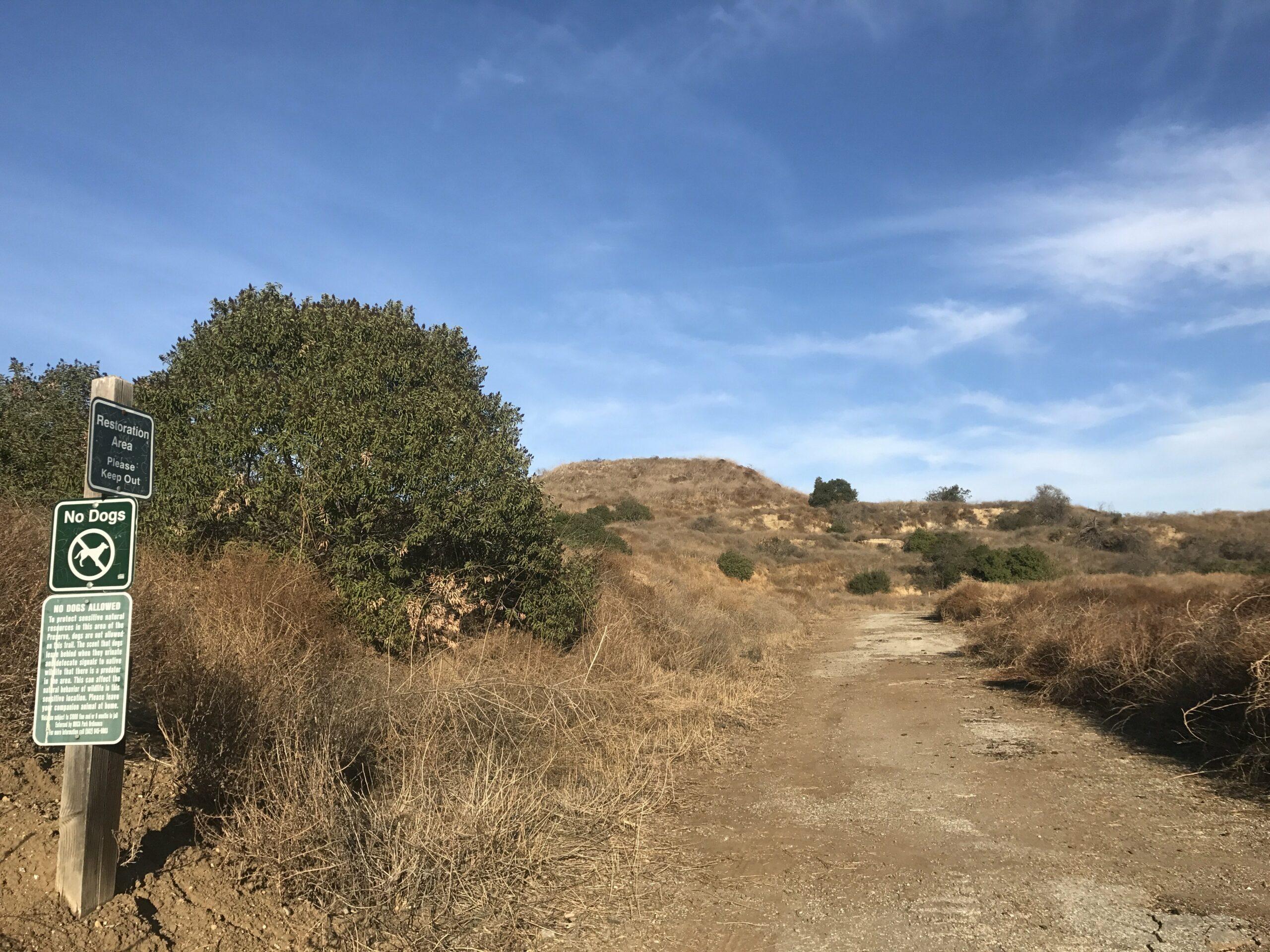 Arroyo Pescadero trail entrance