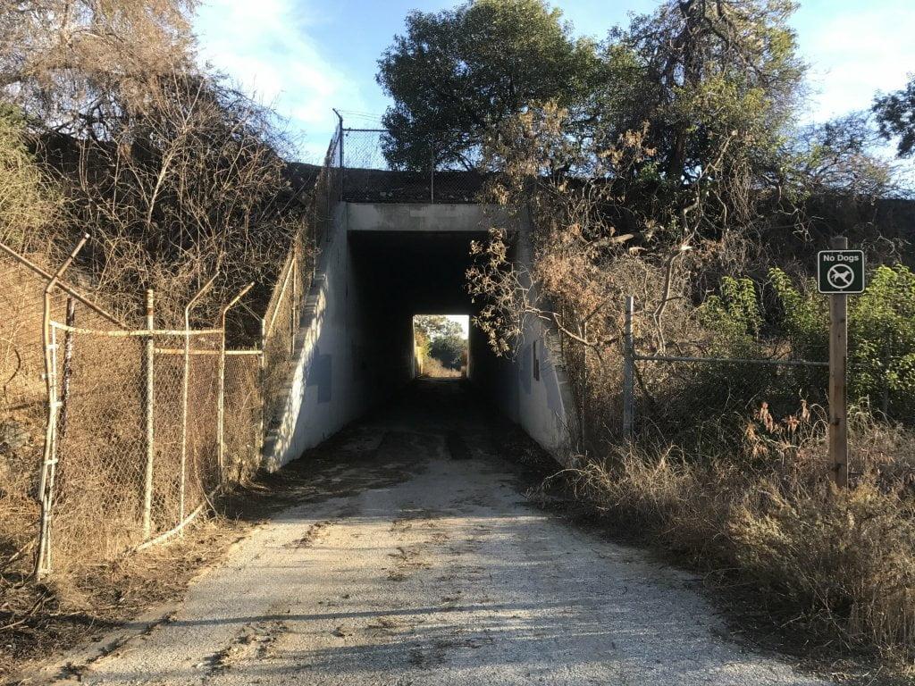 Arroyo San Miguel Trail tunnel