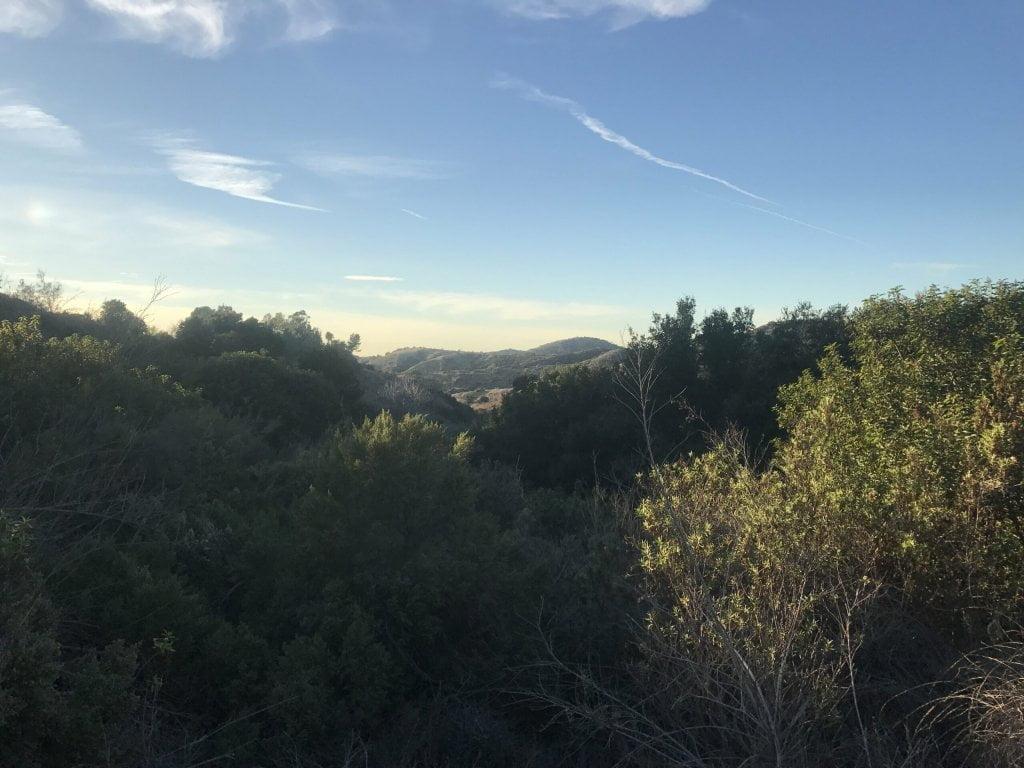 Arroyo San Miguel Trail mountain views