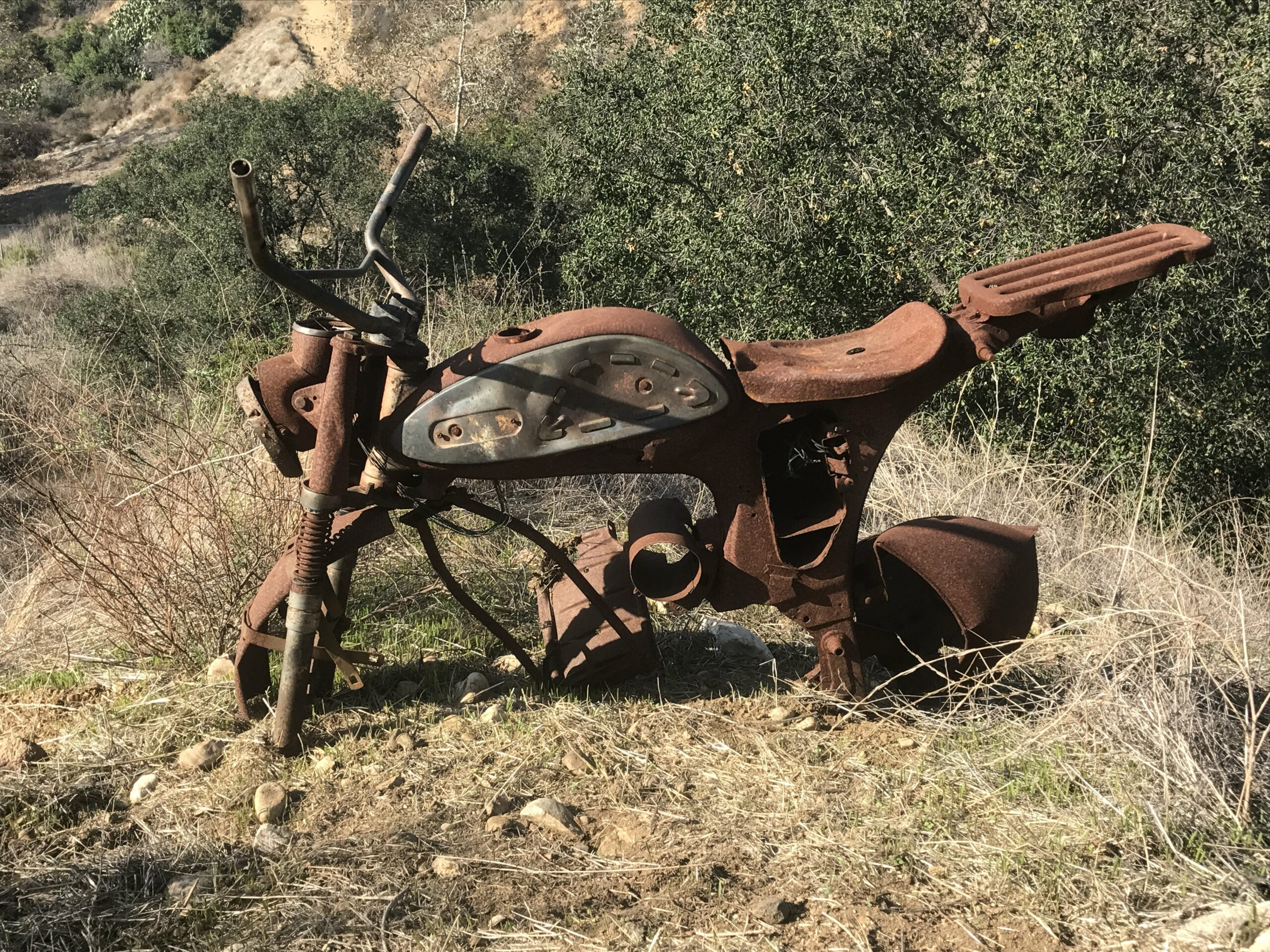 Turnbull Canyon rusted motorcycle