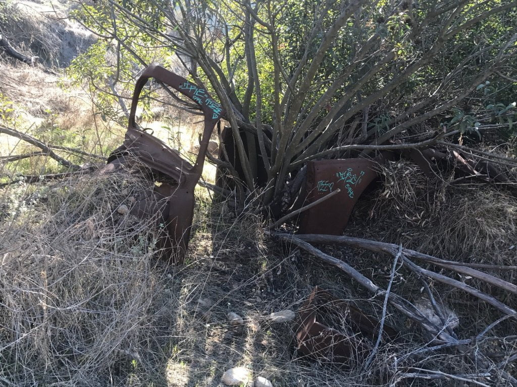 Turnbull Canyon Trail rusted car