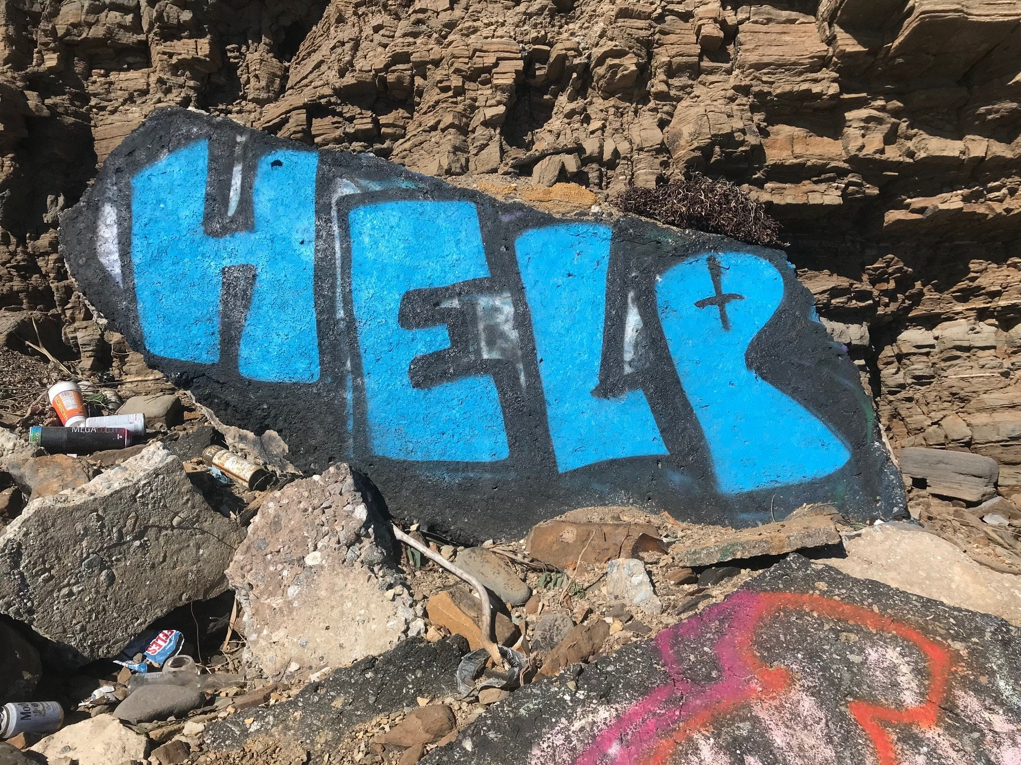 San Pedro Sunken City help graffiti