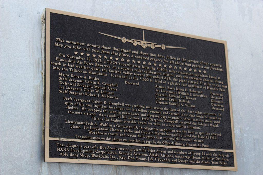 bomber glacier memorial