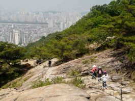 Hiking in seoul korea