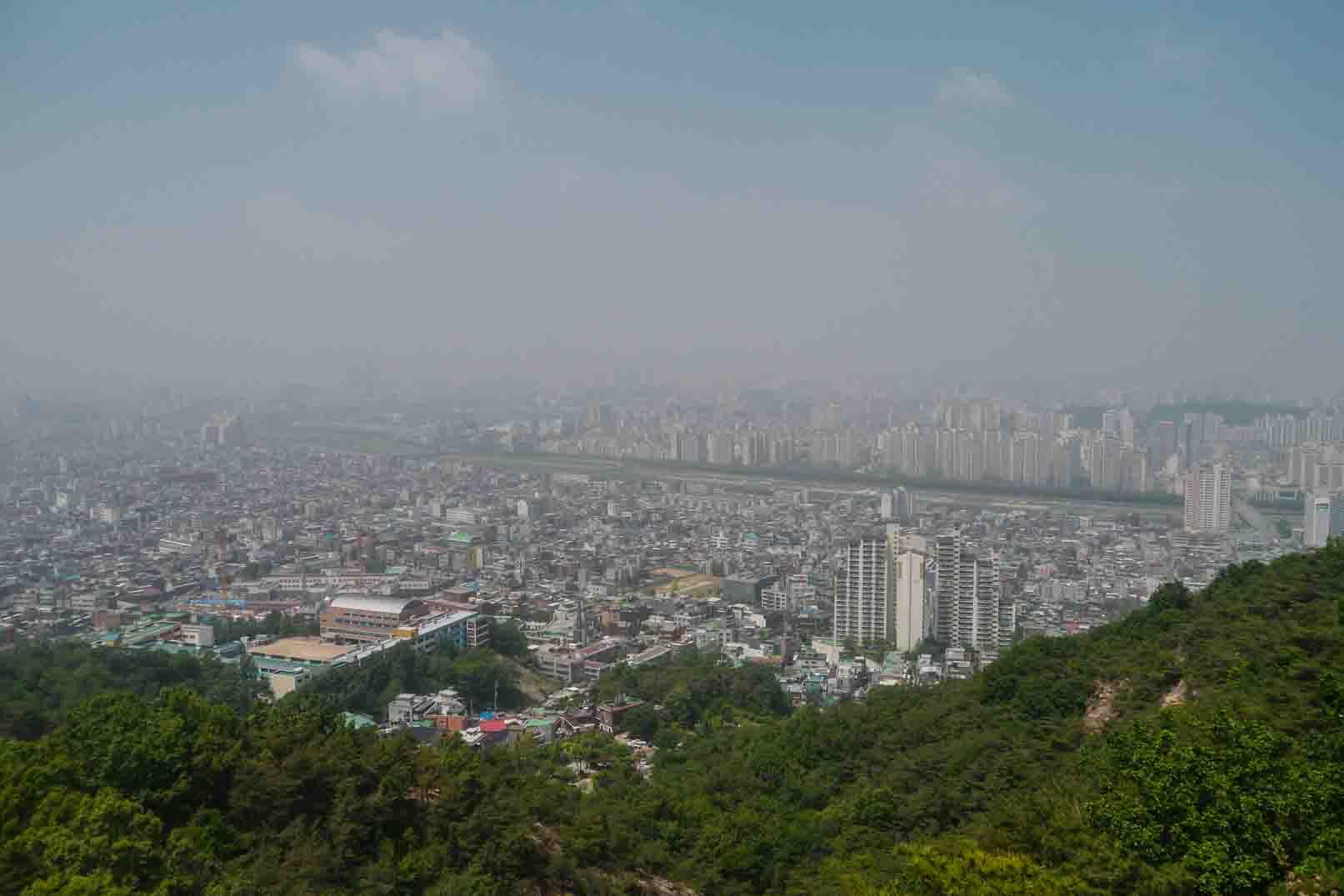 hiking in seoul korea