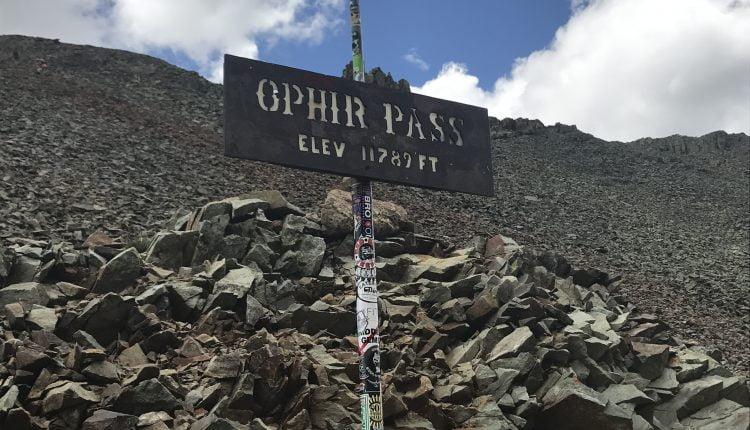 Ophir Pass Sign