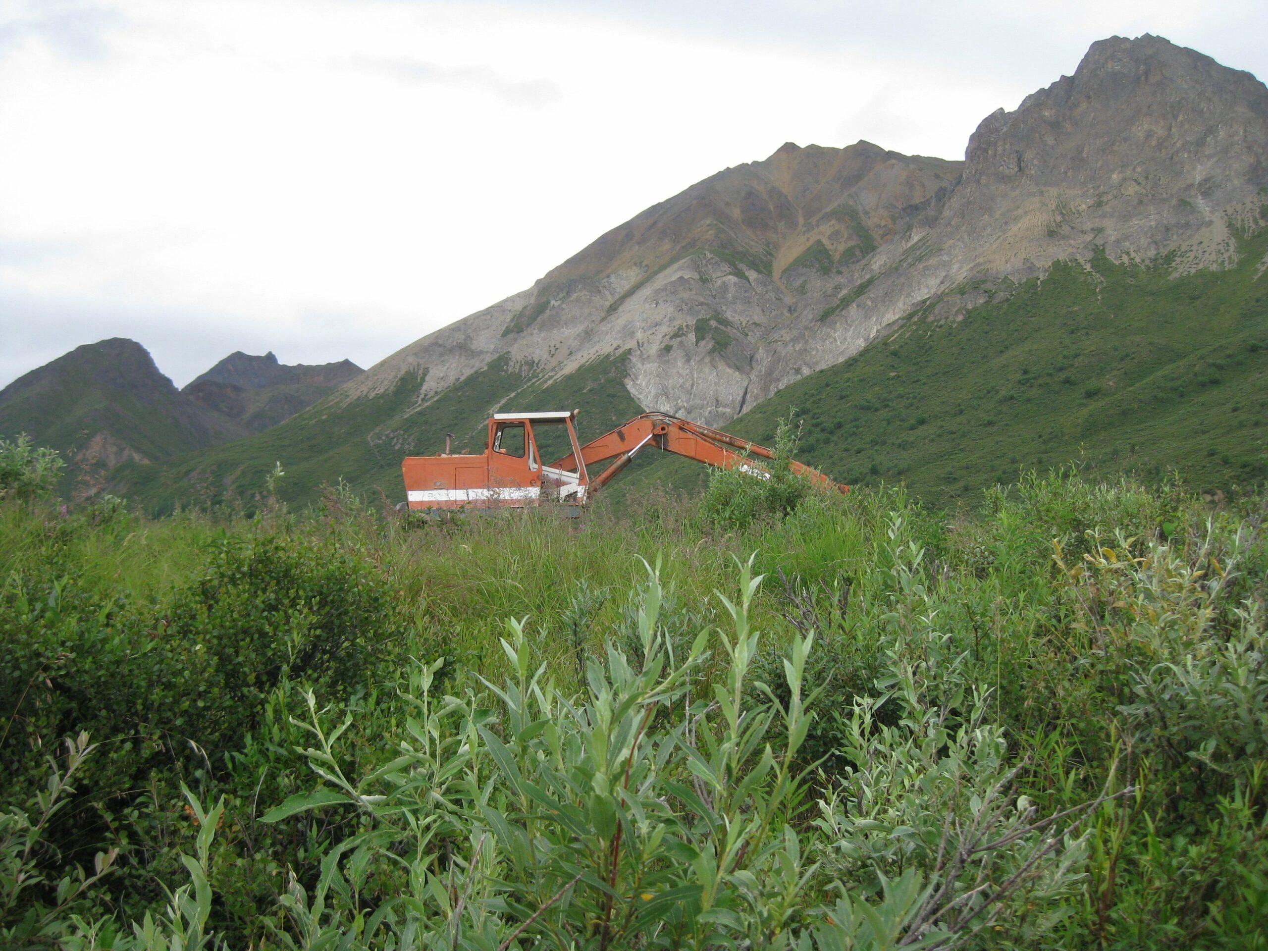 Chitna Pass mining equipment