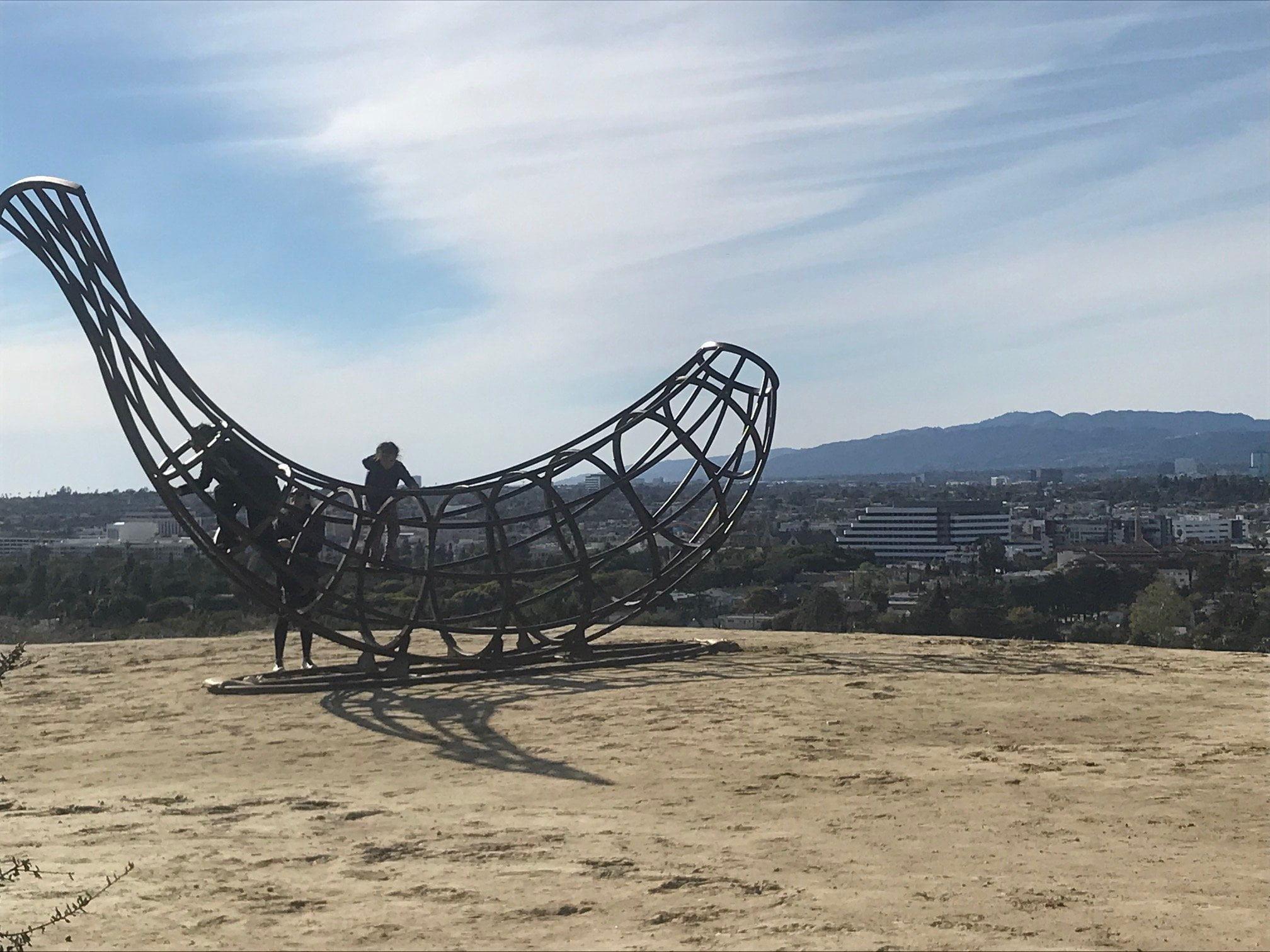 baldwin hills scenic overlook banana sculpture