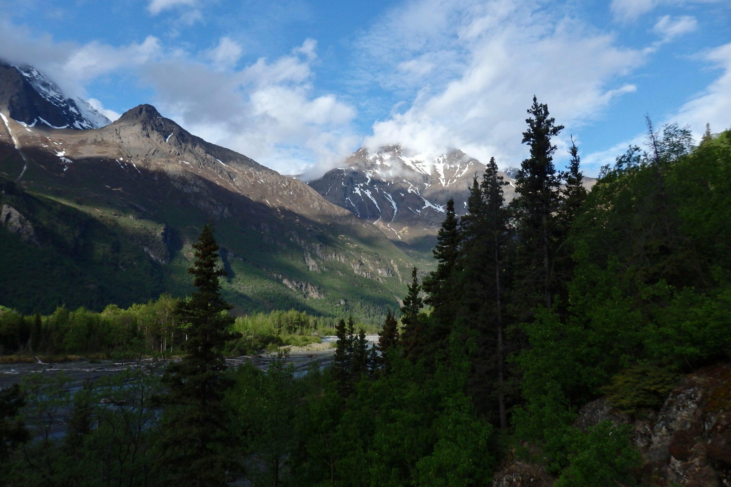 long distance hiking across the eagle river and chugach mountains Alaska