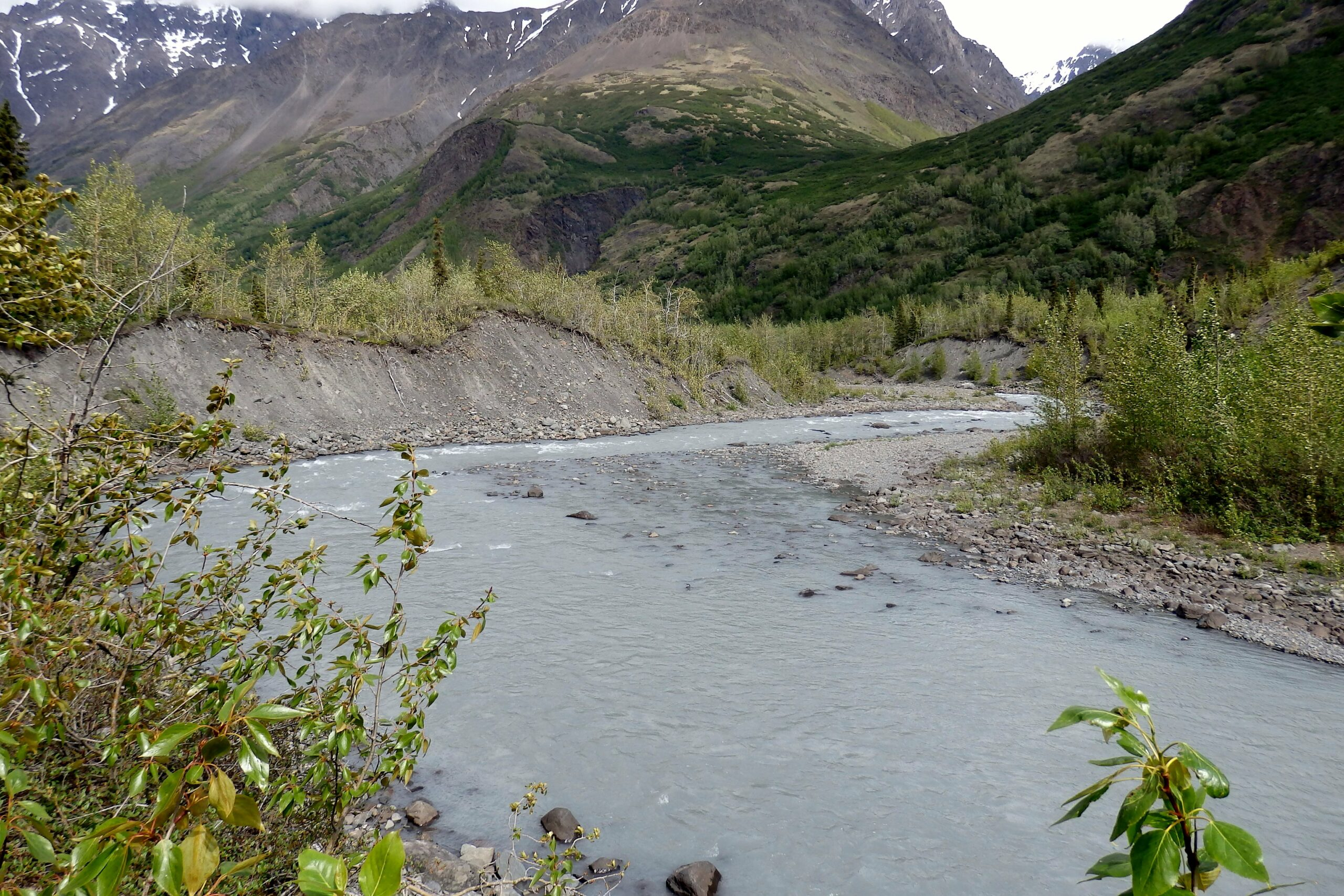 long distance hiking through the Alaska wilderness and Chugach mountains