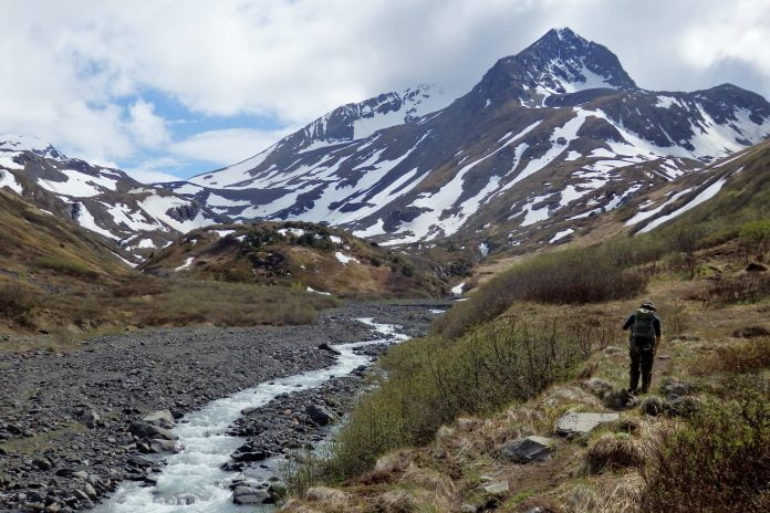 long distance hiking in the wilderness