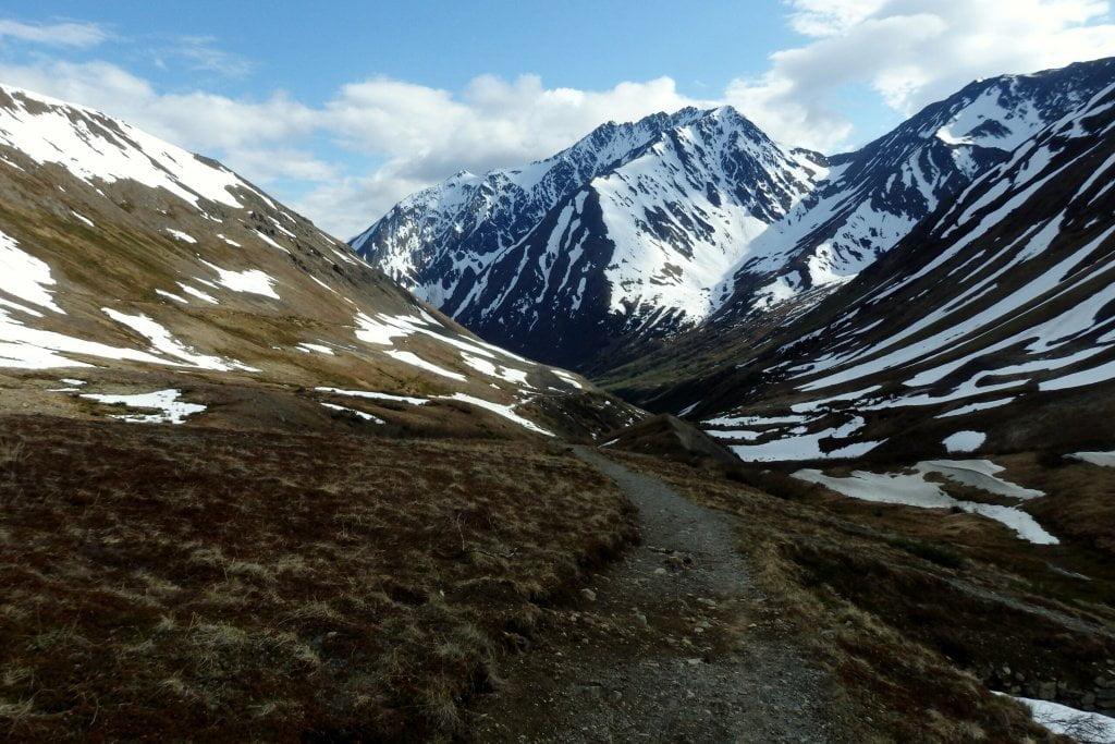 long distance hiking crow pass
