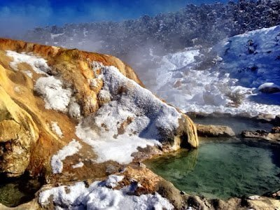 Mammoth Lakes hot springs