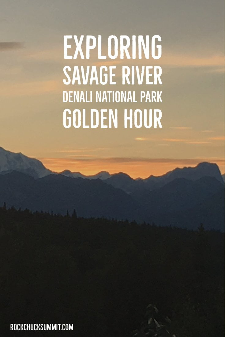Hiking the Savage River of Denali National Park during the golden hour