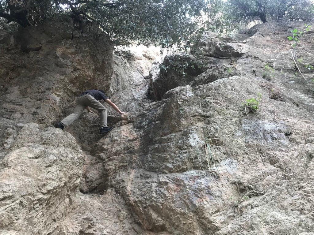 eaton canyon rock wall