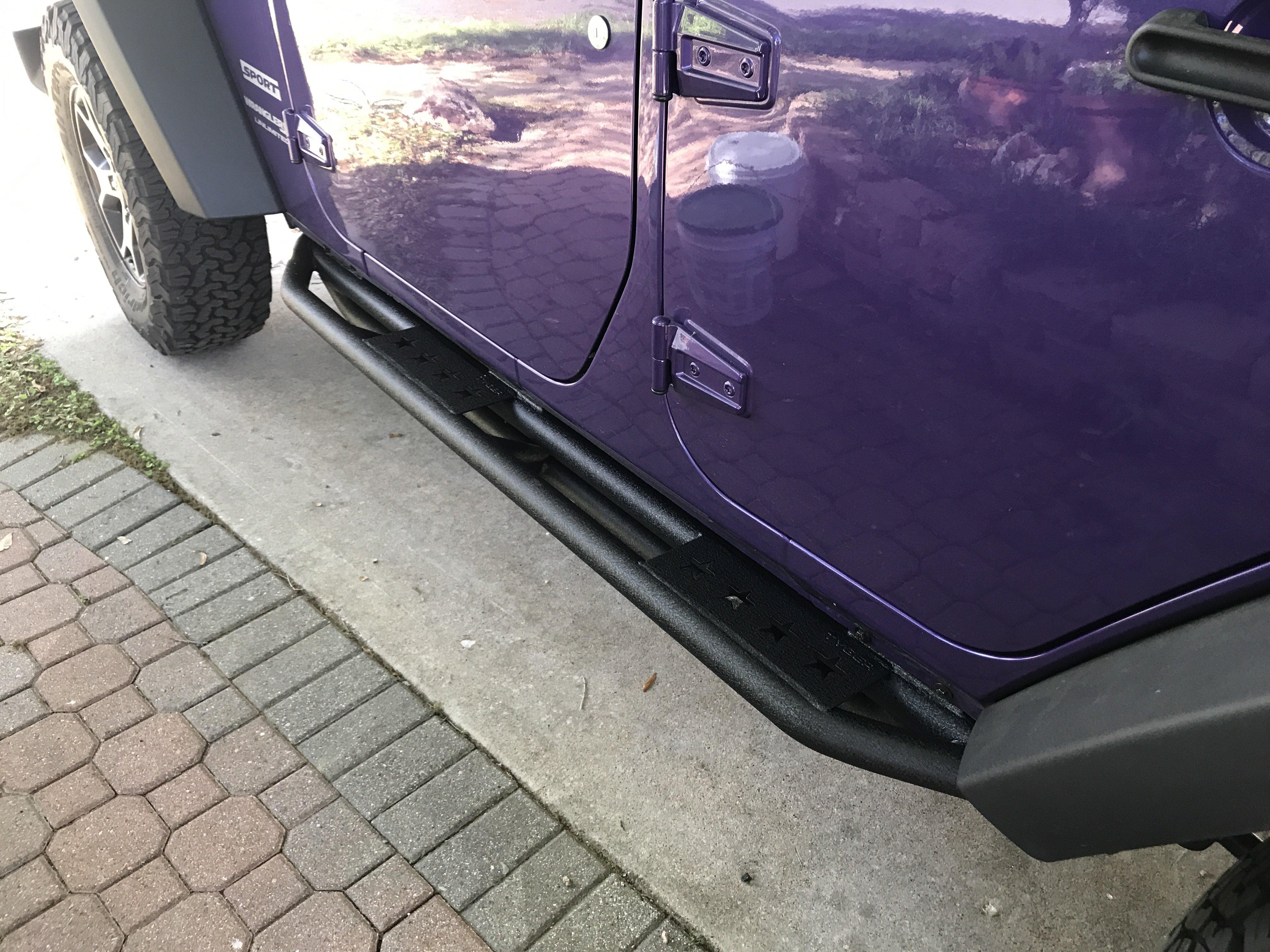 Installed Jeep Wrangler Running Boards