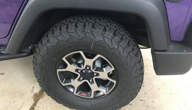 tire clearance before teraflex body lift