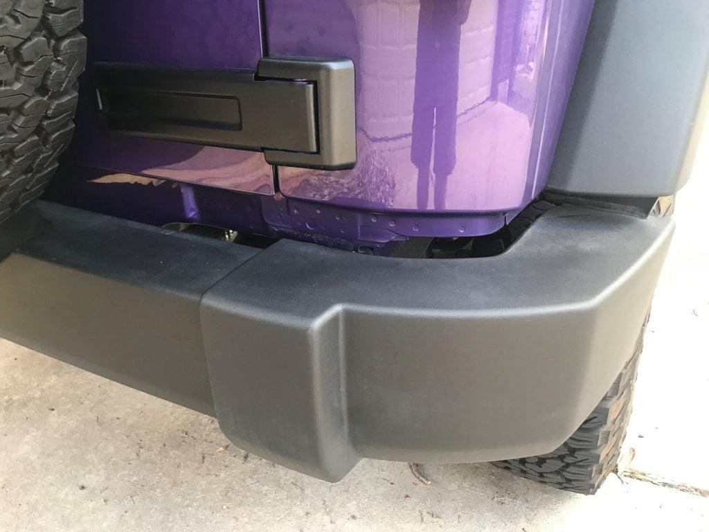 Jeep Wrangler Body Lift Bumper Gap