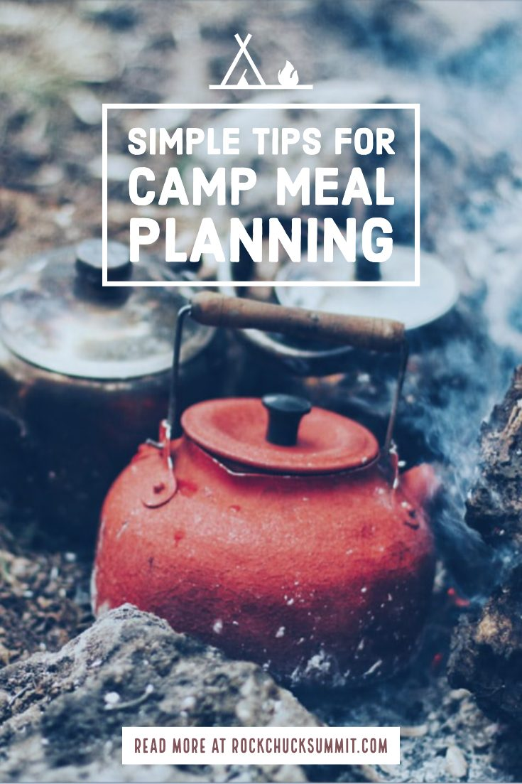 Camp Meal Planning