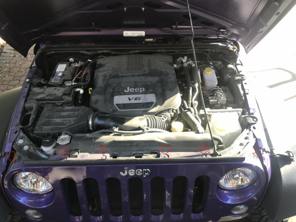 Jeep Wrangler Grill removal