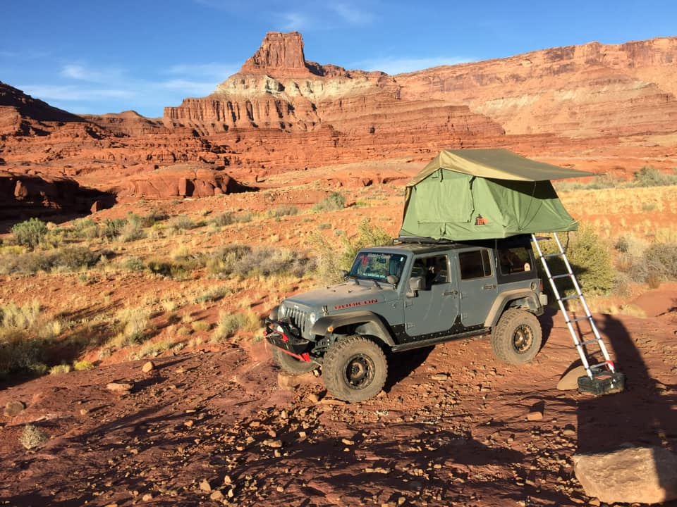 Tepui Rooftop Tent on Jeep Wrangler