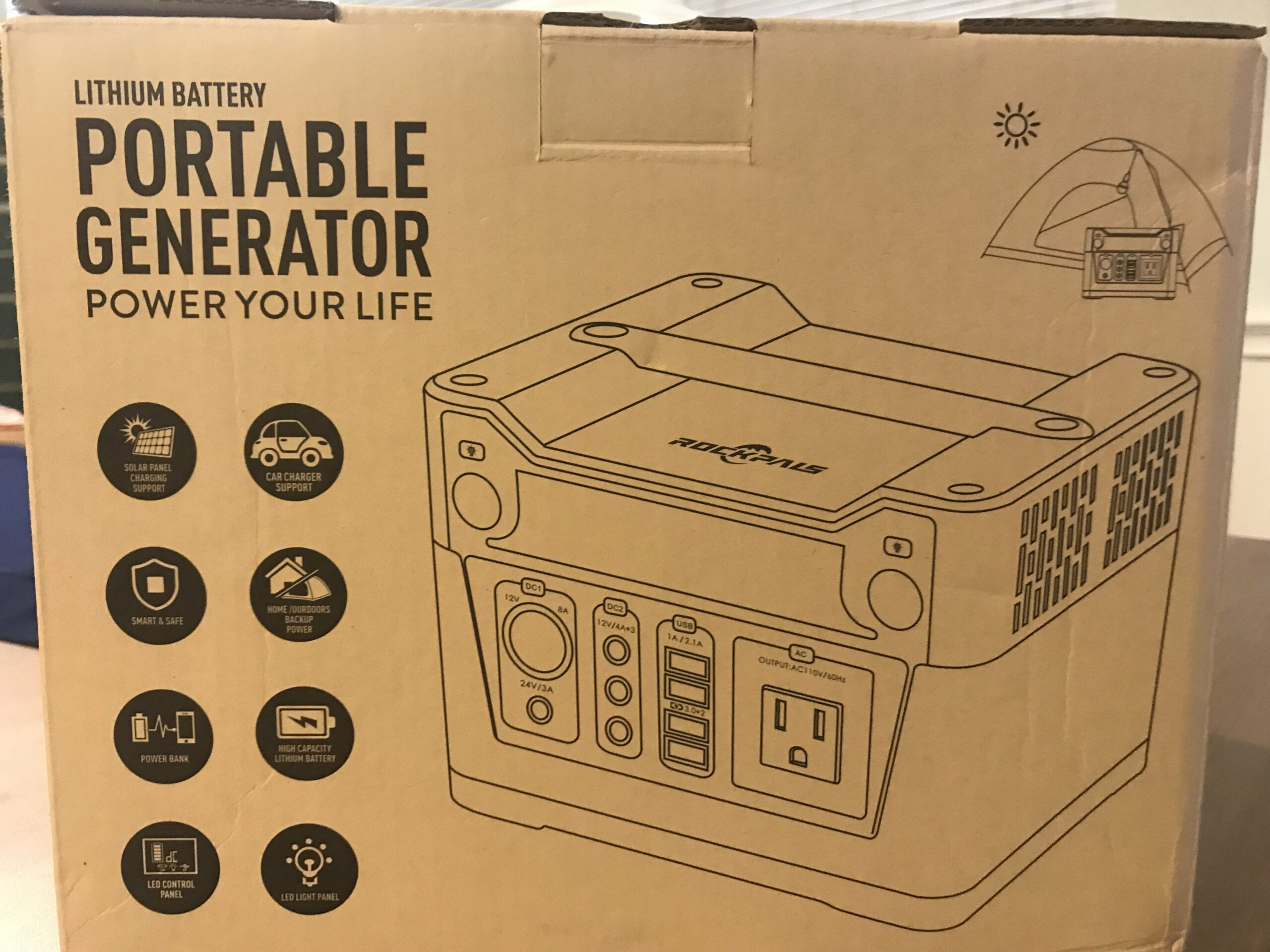 Rockpals Lithium Battery Portable Generator unboxing