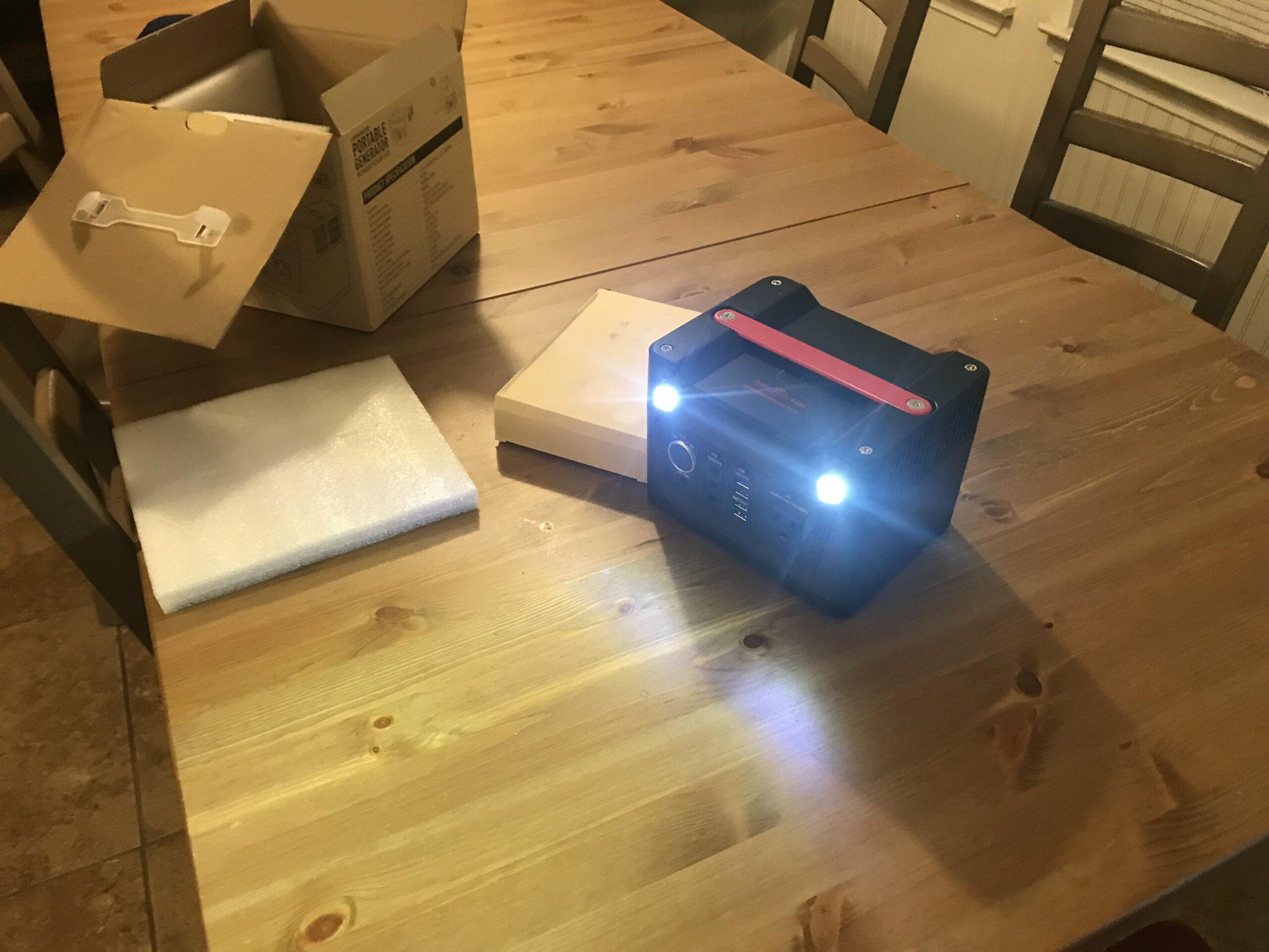 Rockpals 300 watt generator Portable Power unboxing
