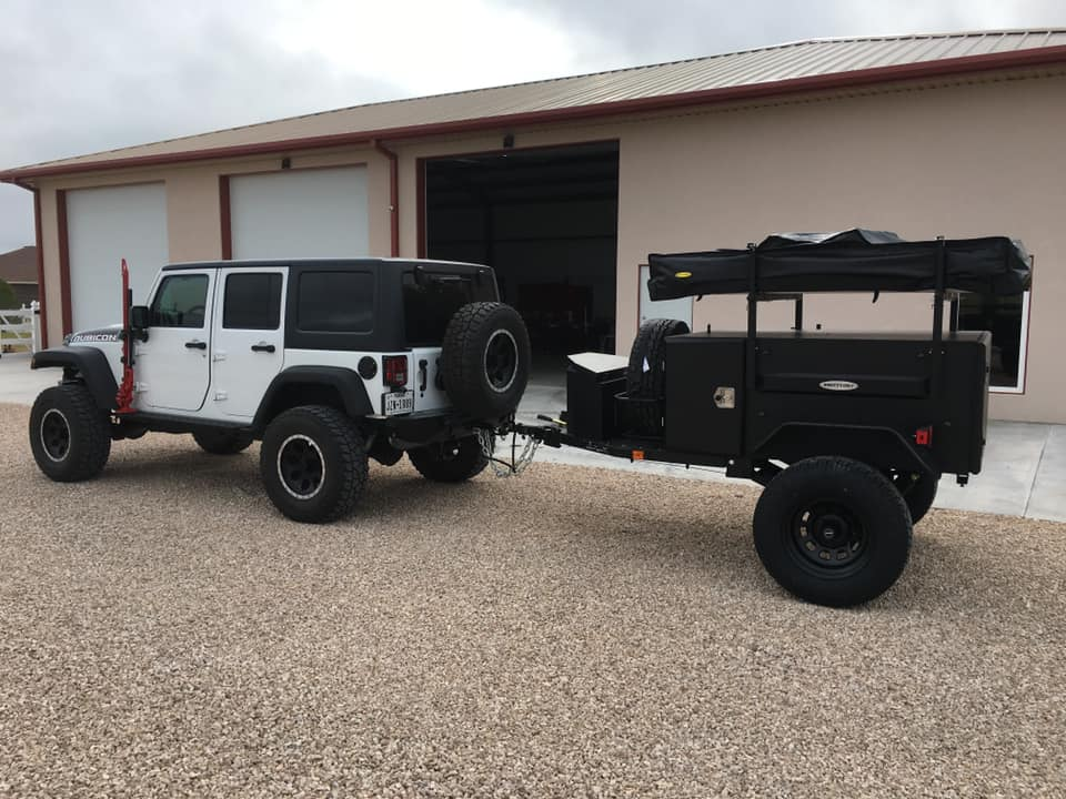 Rooftop tent mounted on trailer Jeep Wrangler & Jeep Roof Tent Deep Dive - Expedition RTT Camping in Style!