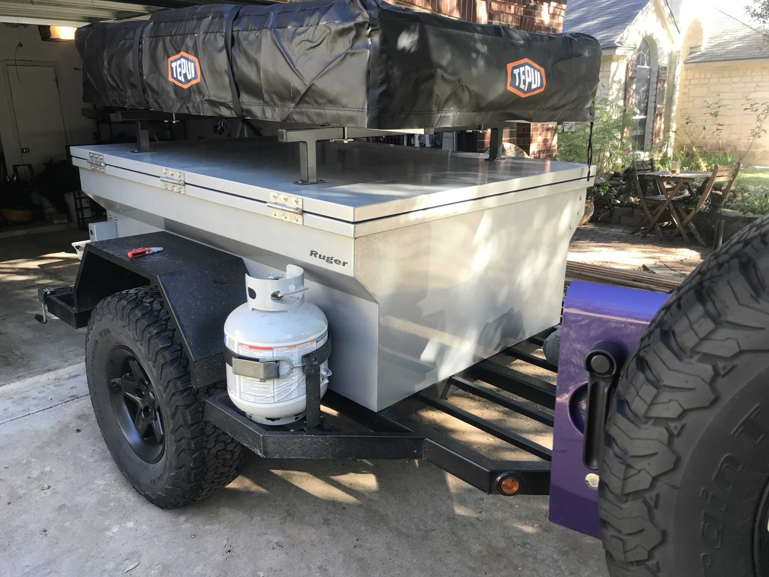 Trailer Mounted Rooftop Tent