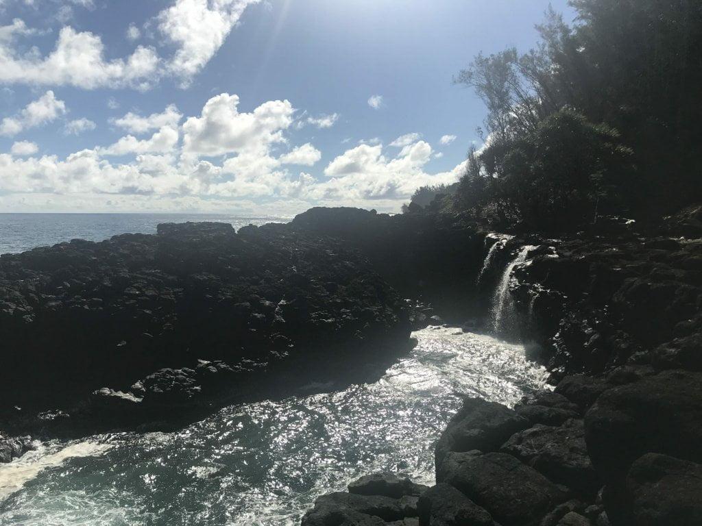 Before queens bath kauai