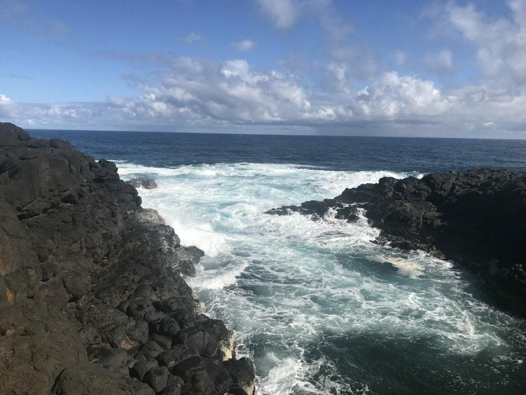 Ocean view from queens bath trail