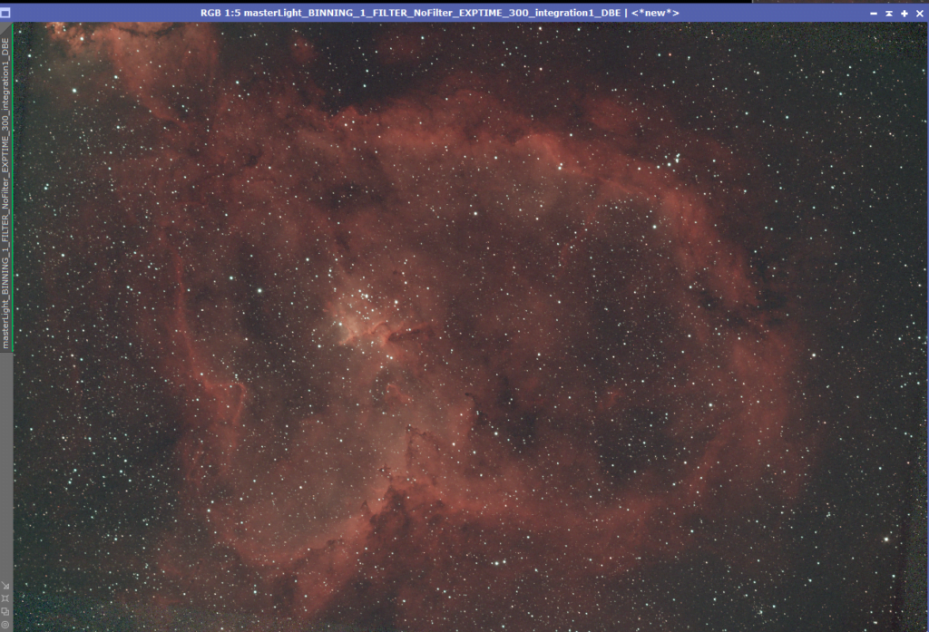the heart nebula pixinsight