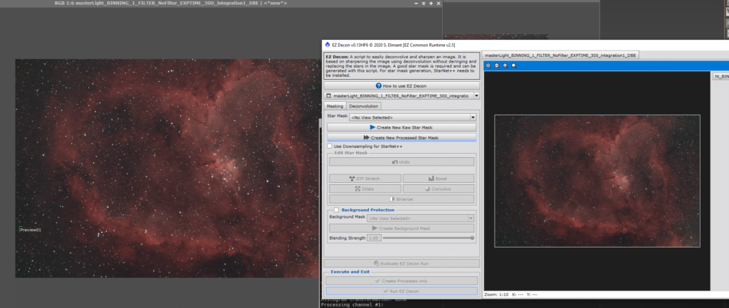 heart nebula deconvolution